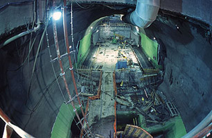 Civil engineering works for the ATLAS detector