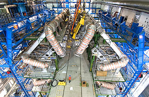 Installation of the eighth and final coil of the ATLAS barrel toroid magnet